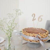 Pomysł na przystrojenie stołu + DWA PRZEPISY ( na tort czekoladowy i ciasto a'la kinder country)
